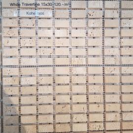 Travertiini mosaiik 1,5x3cm